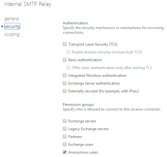 Configuring Exchange 2013 Internal /External SMTP Relay